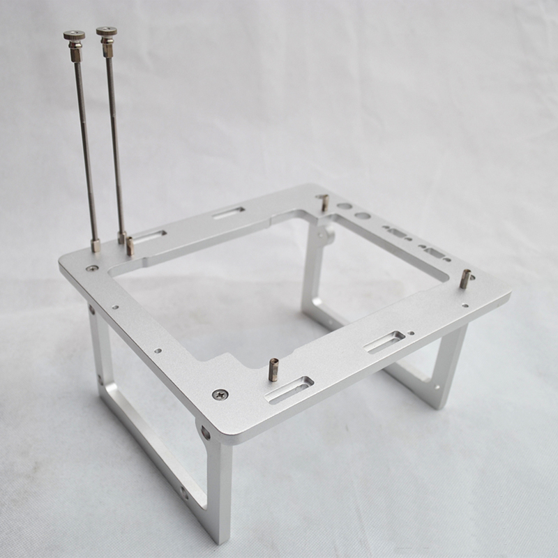 Gabinete do Computador Plataforma de Teste Mini Chassis Water-cooled All-alumínio Anfitrião Aberto Diy Itx a4