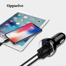 Oppselve Mini USB Car Charger For Mobile Phone Tablet GPS 2.4A Fast Charge Car-Charger Dual USB Car Phone Charger Adapter in Car цены