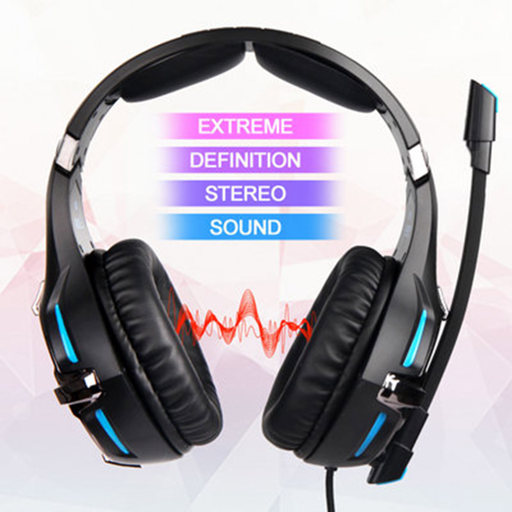 SA-822 Gaming Headset High Sound Quality Headphones 3.5mm with Microphone for PC Laptop Computer Gaming QJY99 image