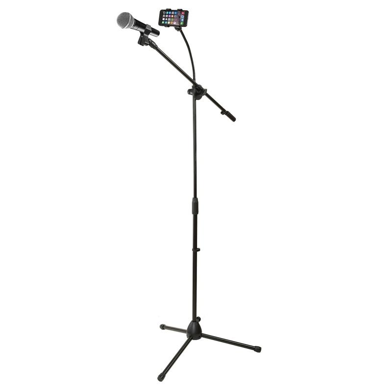 Стойка микрофонная DEKKO JR-504 BK с держателем для смартфона стойка для муз инструмента dekko jr 3021 черный