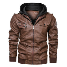 New Mens PU Hooded Jackets Coats Motorcycle Biker Faux Leather Jacket Men Motor Biker PU Jackets Classic Winter Jackets Clothes mens pu leather jacket male business casual coats thick coats slim clothes jackets men cowboy jackets classic motorcycle bike