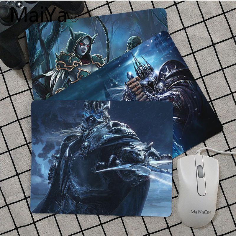 Maiya High Quality World Of Warcraft Lich King Beautiful Anime Mouse Mat Top Selling Wholesale Gaming Pad Mouse
