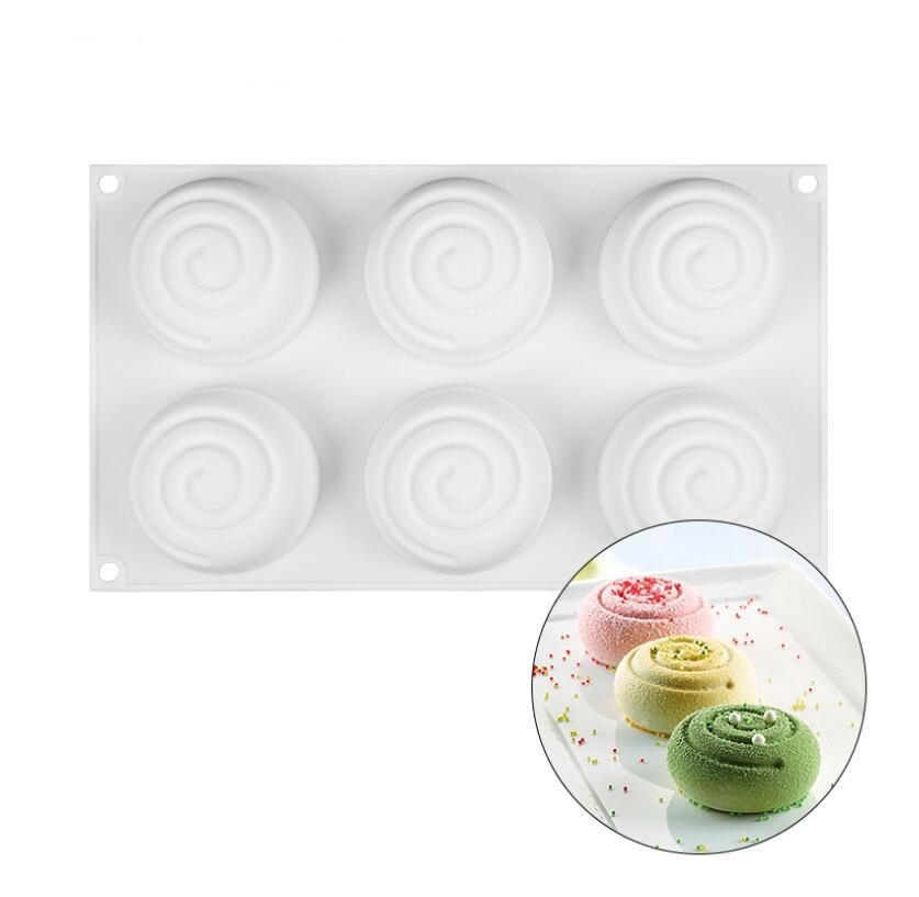 3D Round Whirlpool Silicone Soap Mold Food Grade Silicone Molds For Swirl Soap Making DIY Handmade Soap Candle Craft