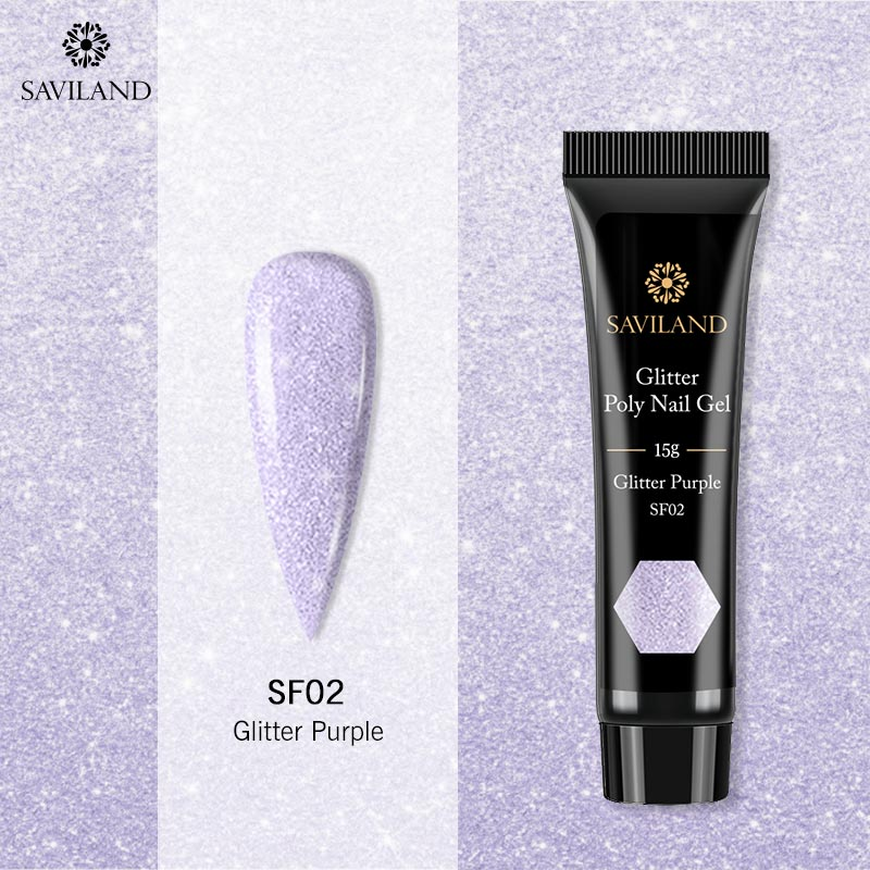 Saviland Glitter Pink PolyGel Nail Extension Gel Cat Eye Poly Gel UV Building Jelly Gel Polish Enhancement Manicure Tips(China)