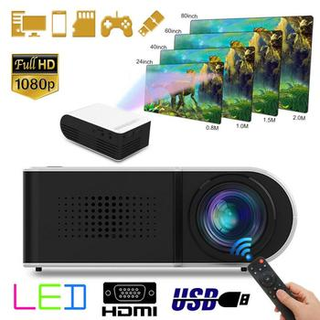 YG210 HD Mini Projector For Home Cinema Theater Entertainment Built-in 1300mAh Battery Portable Smartphone Projectors Projetor