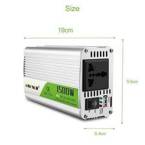 Image 5 - חדש רכב מהפך 1500W DC 12V ל ac 220V כוח ממיר עם LED חיווי אור מצית אזעקת זמזם לשקע מכירה לוהטת