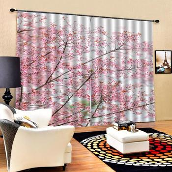 pink curtains tree 3D Window Curtain Dinosaur print Luxury Blackout For Living Room  Blackout curtain
