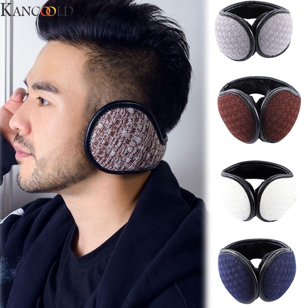 KANCOOLD Winter Earmuffs Foldable Ear Muffs Back Wear Suede Velvet Ear Warmers Warm Plush Earflap Adjustable Ear Cover Earbag