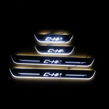 4 PCS/SET led moving running board captur door sill plates scuff LED plate fit for CHR C-HR 2016 -2018