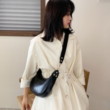 Fashion Crocodile Pattern Pu Women Messenger Bags Retro Alligator Solid Color Small Hobos Shoulder Bag Lady Handbags