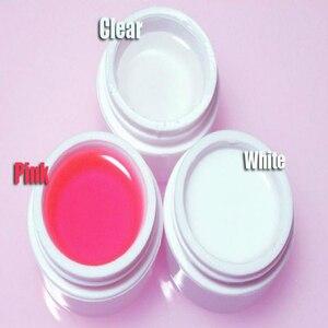 Image 2 - 1 KG wysokiej jakości Nail Art jasny różowy biały kolor do wyboru żel budujący uv narzędzie do polerowania zestaw materiały do paznokci