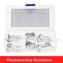 6Kinds*10pcs=60pcs GL5506 GL5516 GL5528 GL5537GL5539 GL5549 PhotoResistor kit Sample Assort Photosensitive Resistance