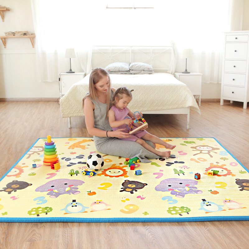 Baby Playmat Children Puzzle Carpet Baby Play Fence Mat Double-sided Pattern Activity Gym Mat Newborns Educational Toys
