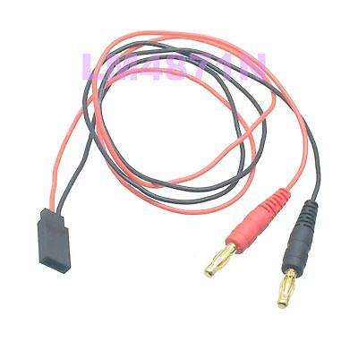 DHL/EMS 50 LOTS RC Charge Lead 4mm Gold Bullet Banana Plug To JR/Hitec Receiver Female Connector -d2