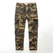 Plus Size Cargo Pants Men Camo Density Trousers Cotton Washe