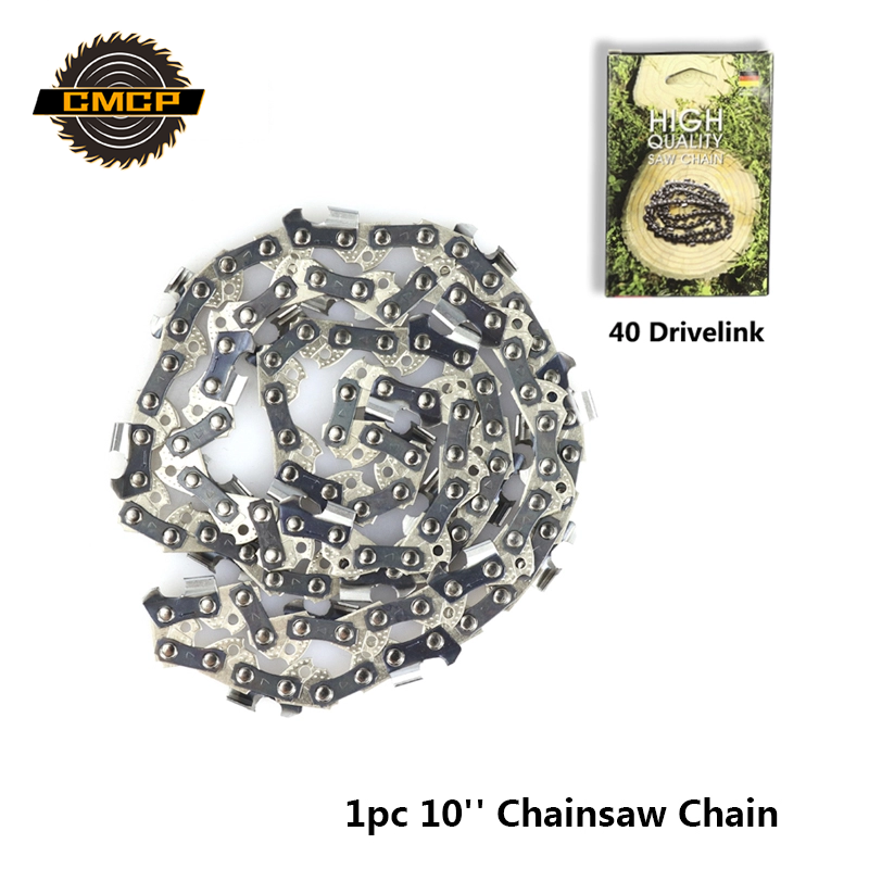 1pc 10'' Chainsaw Chain 3/8'' LP 050'' Gauge 40 Drive Link Fit Electric Chainsaw 30cm Guide Bar Chainsaw Spare Parts