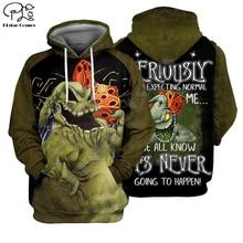 3dprint Skellington Horror Christmas-Jack Men's Hoodies Plstar Cosmos Long-Sleeve Funny