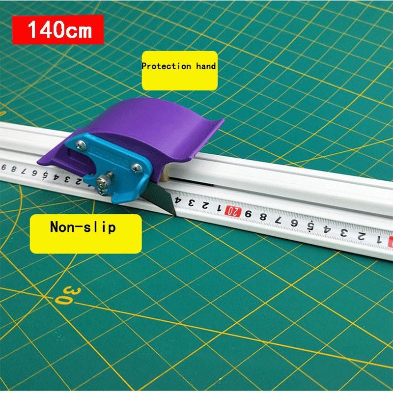 140cm For Kt Board Pvc Board Manual Cutting Ruler Aluminum Alloy Anti-skid Cutting Positioning Ruler Cutting Tool DIY Tool