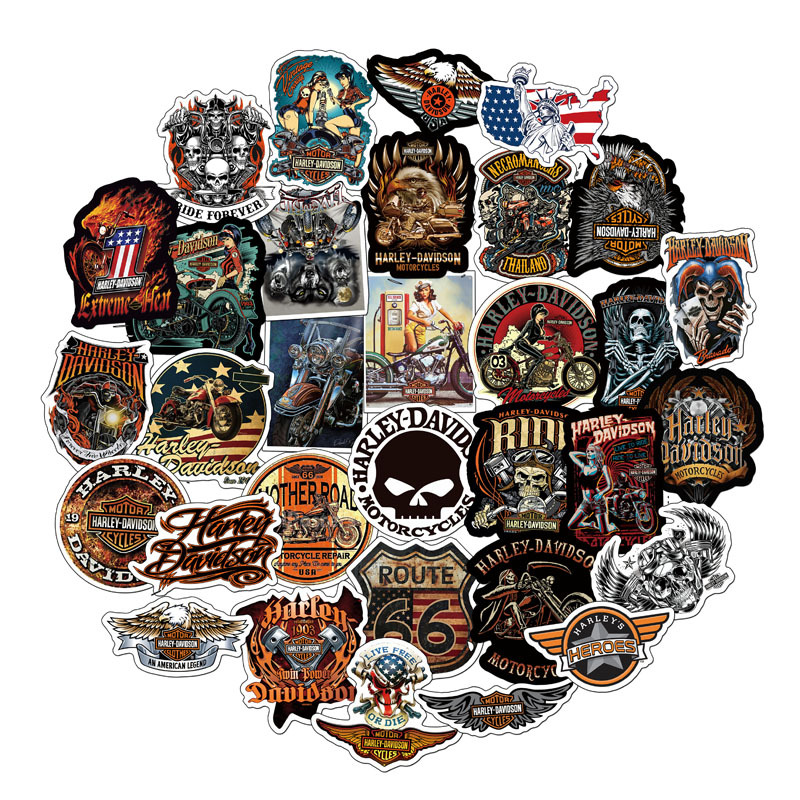 50/100PCS Cool Harley-Davidson Sexy Girl Things Stickers Vsco For Laptop Scrapbook Phone Scooter Car Motorcycle DIY Children Toy