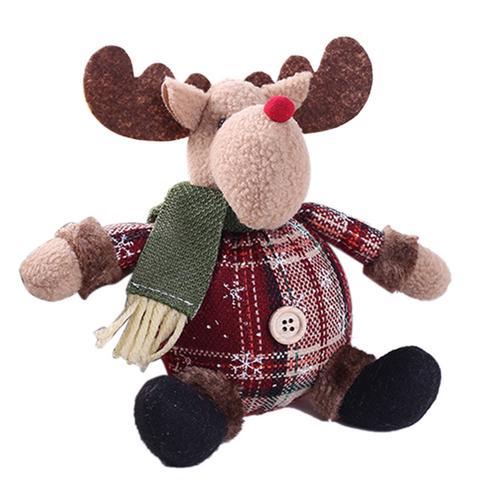Хит, 30 стилей, рождественские украшения для дома, Рождественские куклы, елочные украшения, инновационная декорация с лосем, Сантой, снеговиком - Цвет: M 26x13cm