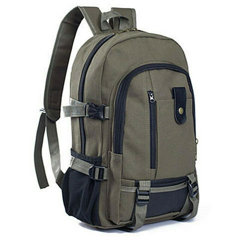 Men's Vintage Canvas Backpack Travel Rucksack Outdoor Camping Hiking Sport Satchel School Bag Bookbag