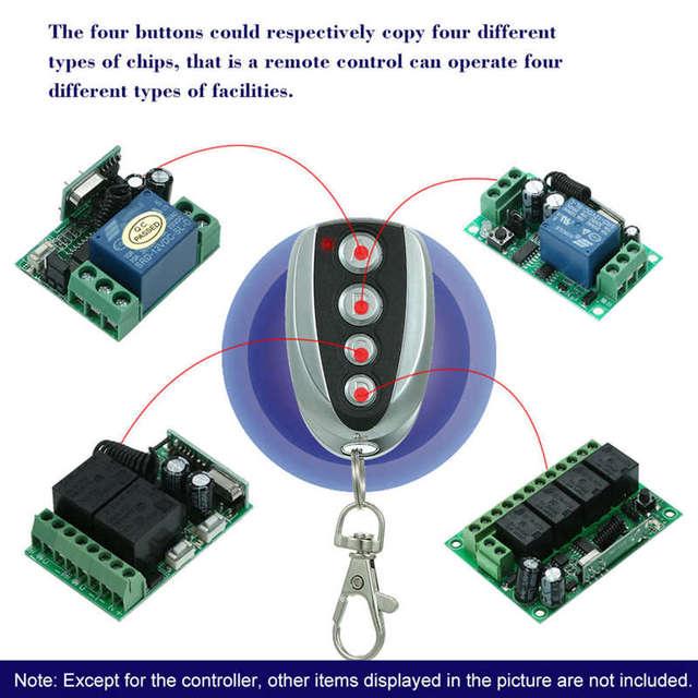 433,92 Mhz duplicador copia de vino Control remoto para Top 432Ev Top-432Na Top432Na para puerta de garaje Universal llave Fob