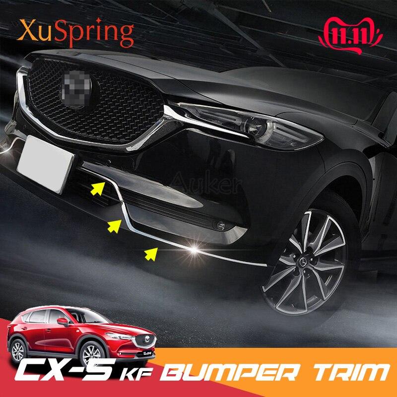 Para mazda CX-5 cx5 2017-2019 kf frente inferior amortecedor moldagem grill guarnição capa adesivos enfeitar acessórios do carro novo estilo