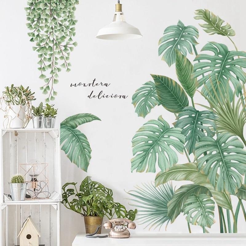 1Pc DIY Tropical Palm Blätter Wand Aufkleber Moderne Kunst Aufkleber Vinyl Wandbild Wand Aufkleber Für Kinder Zimmer Home Decor