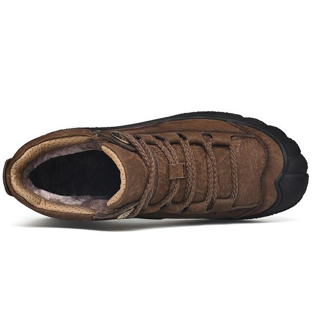 Фото мужские винтажные ботинки из натуральной кожи с круглым носком цена