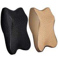 Adjustable Car Neck Pillow 3D Memory Foam Head Rest Auto Headrest Pillow Travel Neck Cushion Support Holder Seat Pillow New|Neck Pillow| |  -
