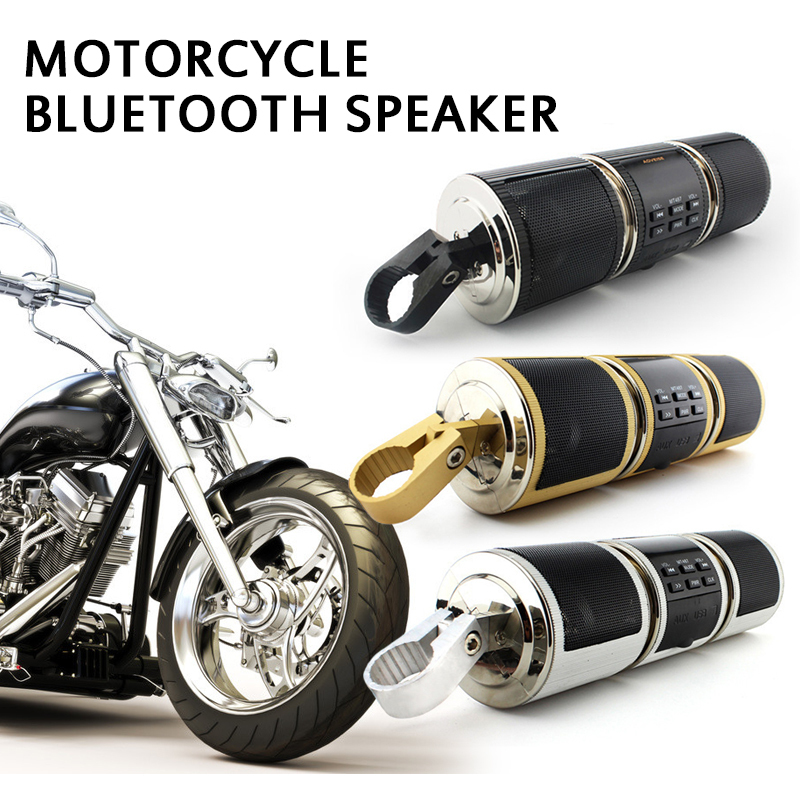 Handlebar Motorcycle MP3 Player Speaker Bluetooth Music FM Radio Waterproof Adjustable Bracket Motorbike Audio Stereo 12V