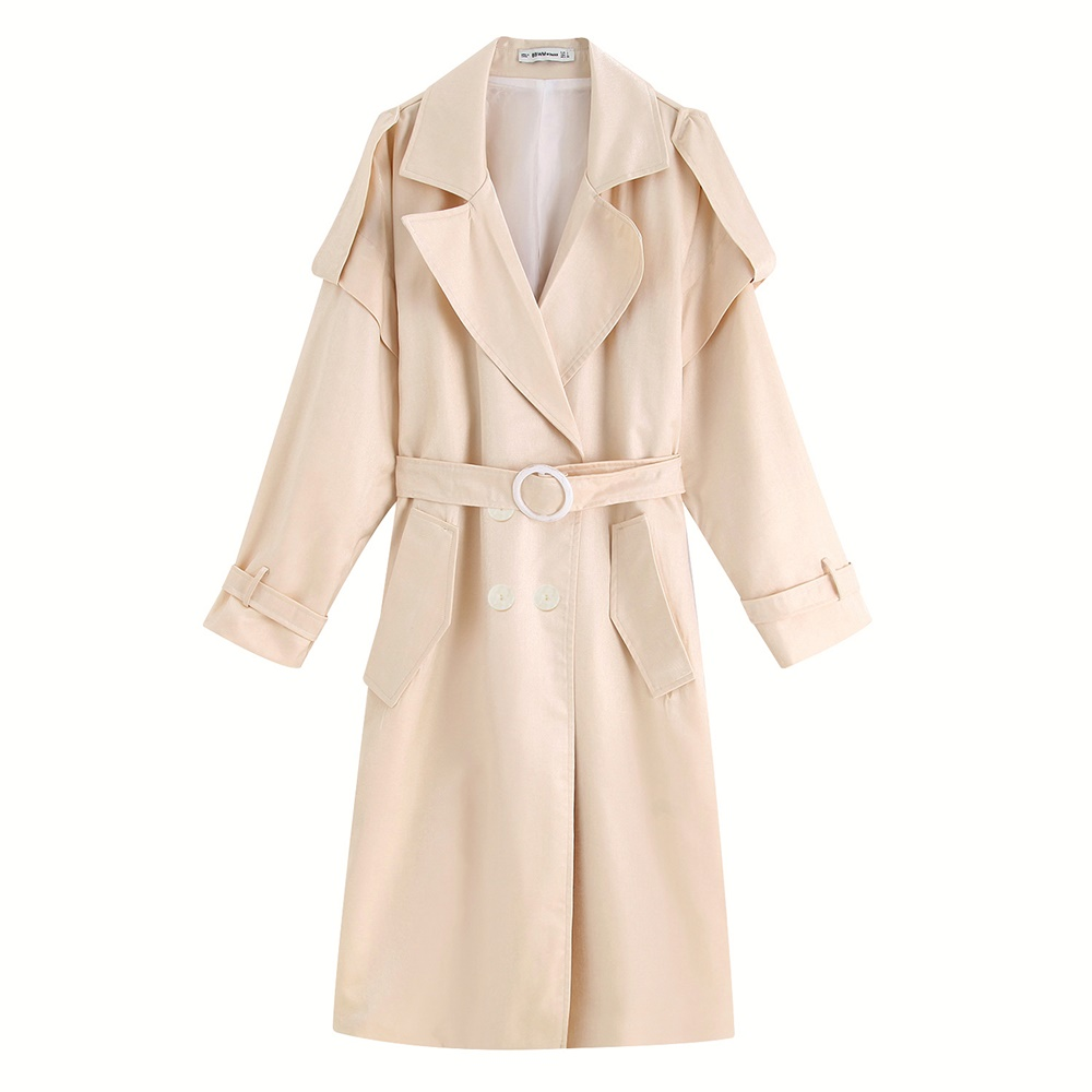Women Trench Coat Lady Long Trench Coat Autumn Elegant Trench Coat Women Beige Long Trend Coat Women Outfit F0299
