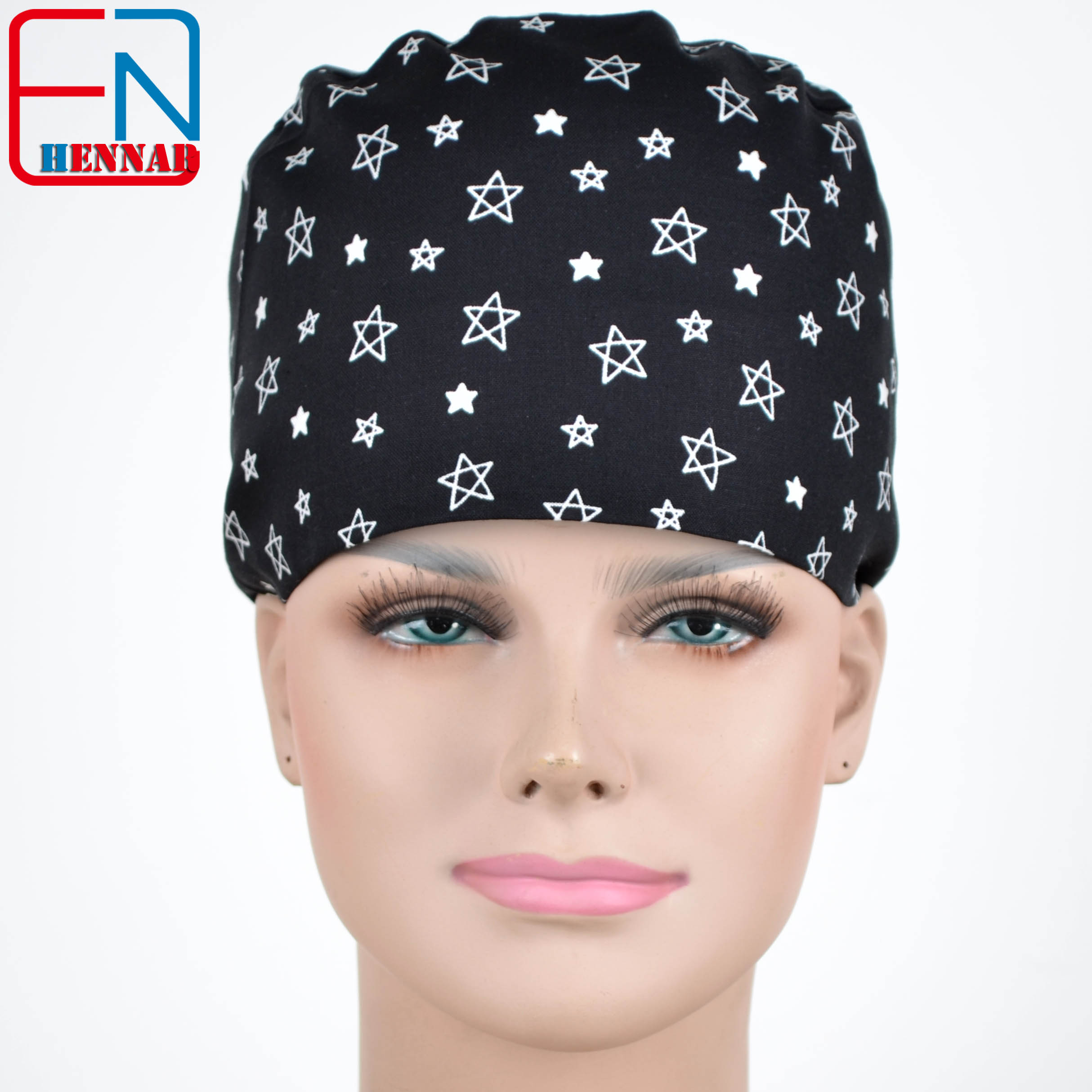 NEW Matin Long Hair Surgical Caps With Sweatband Doctors And Nurses 100% Cotton