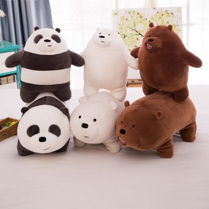 1pcs 25cm Three Of Us Naked Bears Plush Stuffed Cushion Pillow Tie Bear Soft Animal Birthday Toys Cushion Pillow
