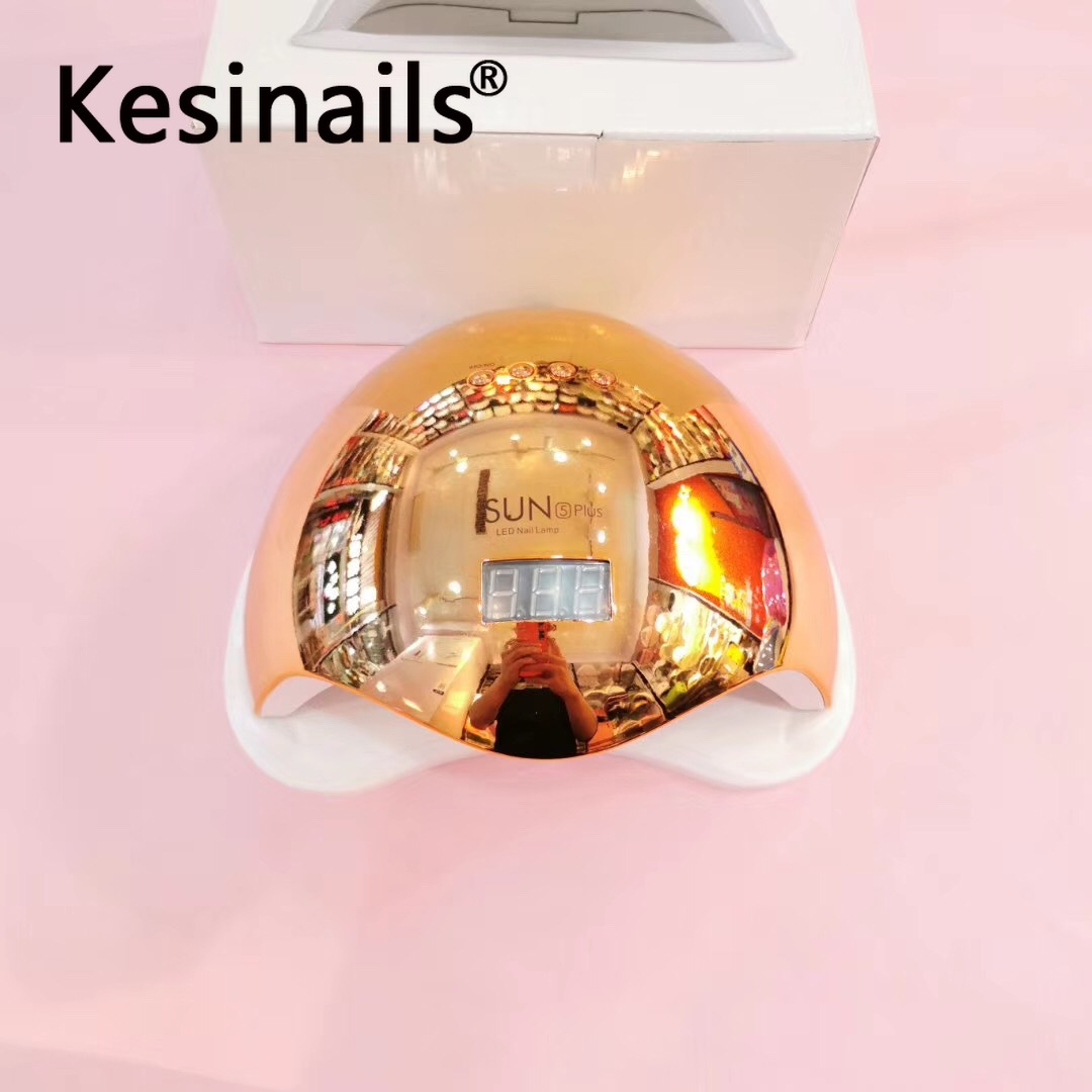 SUN5 48W Dual UV LED Nail Lamp Nail Dryer Gel Polish Curing Light With Bottom 30s/60s Timer LCD Display