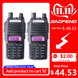 2 STUKS BaoFeng UV-82 Walkie Talkie 10 KM Dual Band 136-174/400-520 MHz FM Ham Twee Manier radio UV82 CB Ham Radio Hf Transceiver UV 82