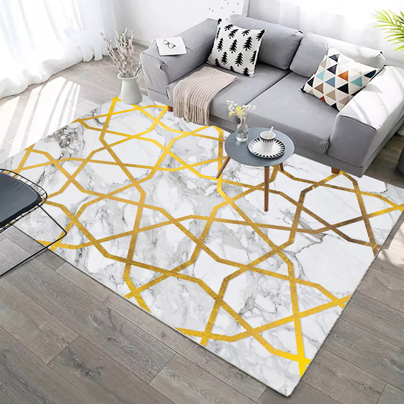 Carpets For Living Room Sofa Coffee Table Rug Home Carpet Bedroom  Decorative Study Floor Mat Marble Line Rugs Creative Nordic