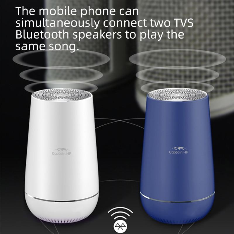Нам капитан ВЧ-динамик Bluetooth портативный беспроводной динамик стерео громкий диктор с TWS Тома Bluetooth бас черный белый синий