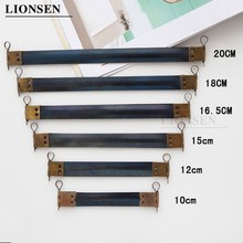 LIONSEN Spring Clasp with hook Handle Metal Internal Coin Purse Frame Hidden Snap Spring Sewing Craft Tailor DIY bag Accessories