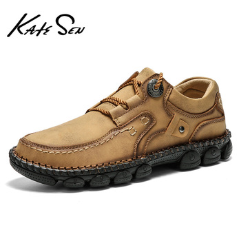 karinluna hot sale size 33 40 kid suede leather flats shoes woman black pink sweet casual loafers women shoes footwear 2021 New Fashion Men Leather Shoes High Quality Casual Men's Loafers Hot Sale Genuine Leather Black Flats Shoes Big Size 47 48