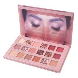 Paleta de sombras para ojos Nude, 18 colores, maquillaje nacarado, pigmento brillante, paleta de sombras para ojos humeantes, resistente al agua, cosmética para ojos