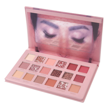 Paleta de sombras de ojos Nude, 18 sombras de ojos en tonos Nude con matices brillantes, perlescentes, glitter, pigmentos para efecto ahumado, cosmético resistenta al agua