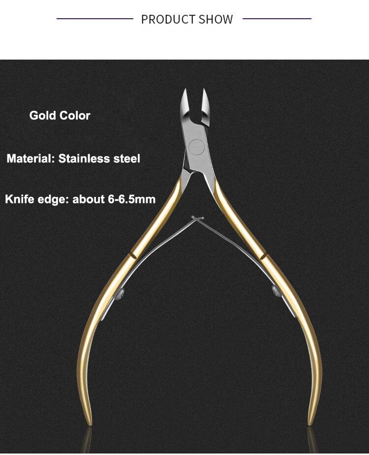 Бриллиантовые ножницы для кутикулы из нержавеющей стали инструменты