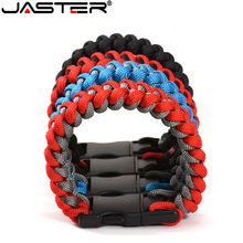 JASTER-memoria USB de 4GB, 32GB, 64GB, 128GB, almacenamiento externo, pulseras trenzadas de nailon