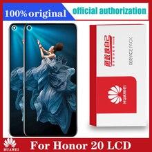 元の表示6.26インチhuawei社の名誉20 honor20 lcdディスプレイタッチスクリーンデジタイザのためのフレームと名誉20液晶
