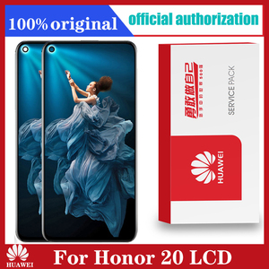 Image 1 - Display original 6.26 polegada para huawei honor 20 honor20 display lcd tela de toque digitador assembléia com quadro para honra 20 lcd