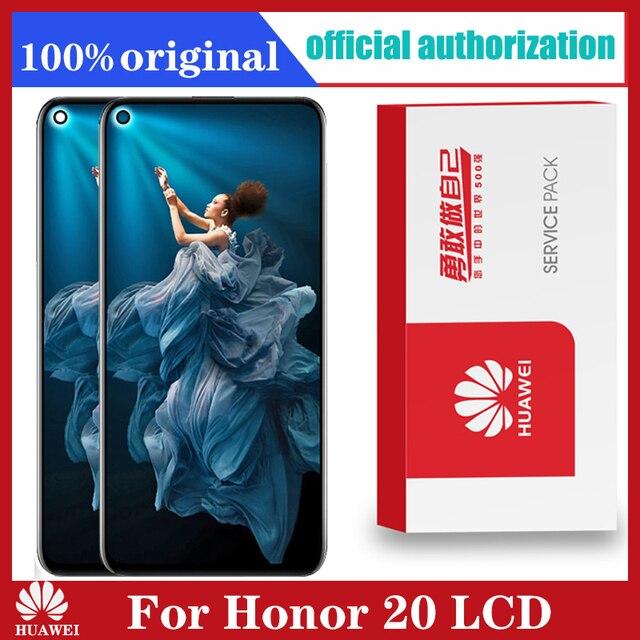 Display original 6.26 polegada para huawei honor 20 honor20 display lcd tela de toque digitador assembléia com quadro para honra 20 lcd