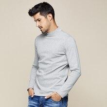 KUEGOU 2019 automne coton plaine blanc T shirt hommes T shirt marque T shirt à manches longues T shirt mode vêtements haut de grande taille 803