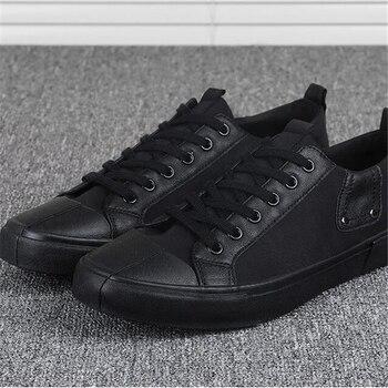 Zapatillas de lona para Hombre, zapatos informales de moda negros, zapatos amarillos...