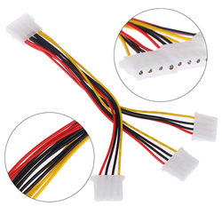 4 Pin IDE 1-to-3 Molex IDE Female Power Supply Splitter Exentsion Adapter Cable